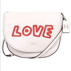 NWT COACH Keith Haring Love Leather